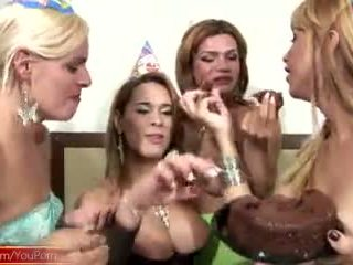 cumshots, group sex, shemale
