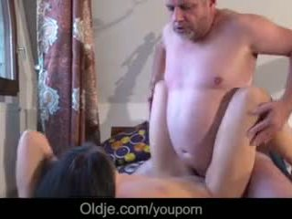 Old Business Man Fucking His Too Horny Hot Young Girlfriend