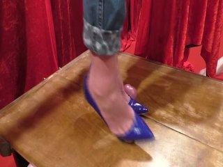 Blue Shoes: Footjob & High Heels Porn Video 19