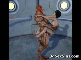 Creatures šūdas 3d scifi kūdikiai!
