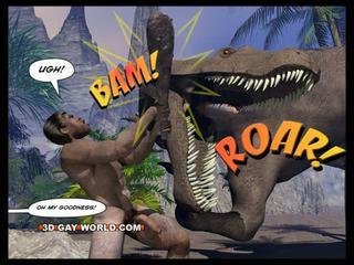 Cretaceous con gà trống 3d đồng tính truyện tranh sci-fi giới tính câu chuyện