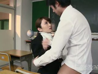 Beauty mugallym fucked hard by students