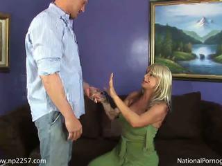 Busty blonde MILF banged by huge raging dick