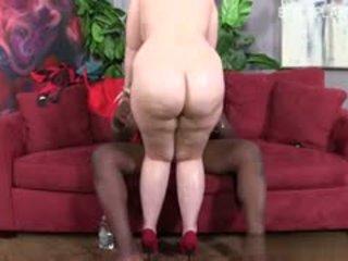 brunette, blowjob, anal, interracial
