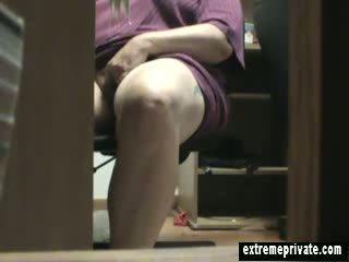 bbw, voyeur, ngón danh, sự thủ dâm
