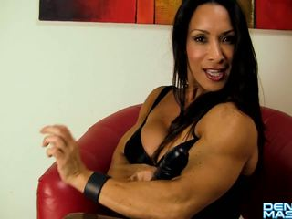 Denise Masino - My Office Jerk Video - Female Bodybuilder