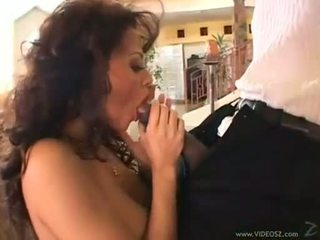 Curly brunet olivia del rio eagerly takes a monstrous sik in her dar mouth