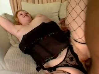 Cherry Poppens has her hairy ginger minge sprayed with fresh spunk