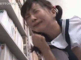Cenzúrázott - ázsiai diáklány squirts és gets egy arcra élvezés én