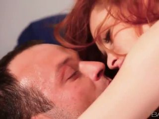 Sultry redhead babe Denisa Heaven banged