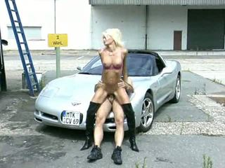 Outdoor Car Blowjobs in Boots