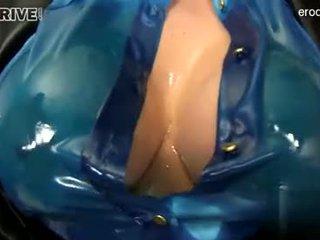 baru si rambut cokelat segar, ideal oral seks memeriksa, segar deepthroat