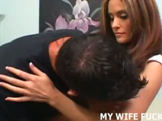 Your hot wife enjoys taking some alpha male dick