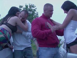 orgy, public nudity, driveby girls