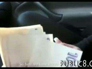 Beautiful Czech girl stuffed for money