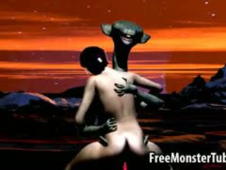 Hot 3D Cartoon Babe Gets Fucked Hard By An Alien