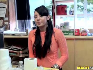 Sexy latina Sasha pick up a dude and fucking