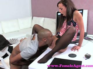 FemaleAgent. Sexy teasing agent puts studs big cock skills to the test