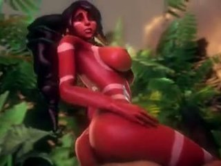 Nidalee in LG of LG have sex