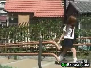 日本, 掀裙, 短褲, 公