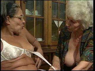 double penetration, granny, dildos