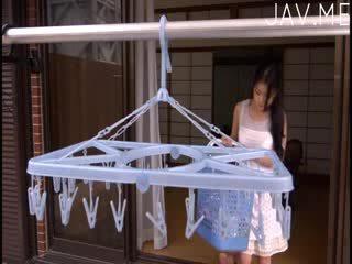 bröst, fan, japansk