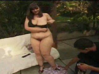 bbw, big tits, outdoor