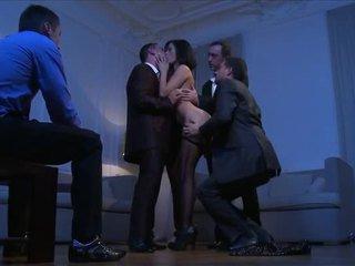 Claire Castel Handle Dicks At Sametime Orgy
