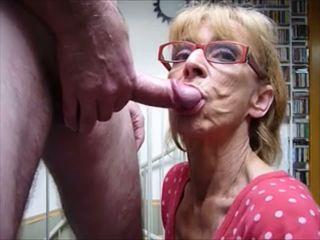 avsugning, cum i munnen, grannies