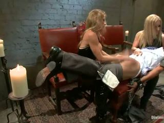 Lady Domination And Torture Close To Pegging By Dominant Blondes Dia Zerva And Felony