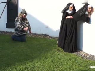 Catholic nuns și the monstru! nebuna monstru și vaginas!