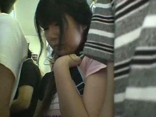 미니 스커트 여학생 모색 에 기차