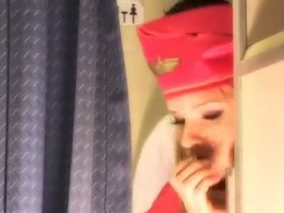 Sexy azafata gets fresco esperma aboard