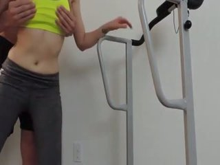 Fitness freak accidentally sucks a cock during a trainingv