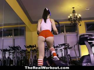 TEAMSKEET Hot Teen Fucked During Gym W...