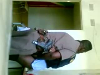 afrikan, uniformë, cop