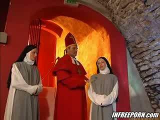 Nuns y preachers loca orgía