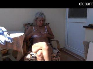 Naughty older Granny masturbating with toy Video