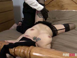 british, fingering, big natural tits