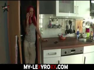 dziewczyna, rudowłosy, wytryski