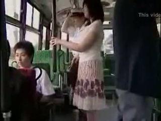 překvapení, veřejnost, autobus
