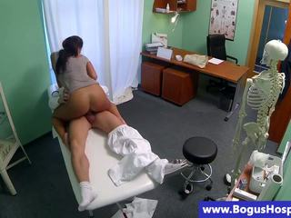 Sexy patient fucked by her doctors hard cock