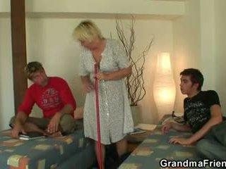 velho, 3some, avó