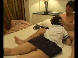 Japans hogeschool meisje geneukt na school- video-