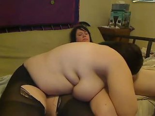 Chubby lesbians flirting and masturbating on webcam
