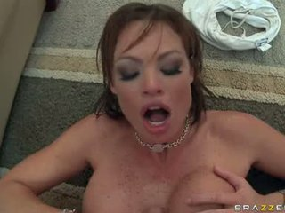 Wet Hot Babe Rhylee Richards Widens Her Slits Wider And Likes The Cock In Her
