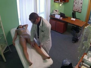 Stunning pole dancer fucked by doctor in fake