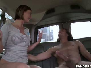 Sexy blonde vixen nailed in the bang bus