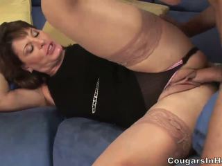 Hot MILF hoe sucks her sons friends big boner