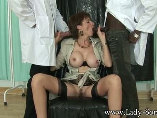Lady Sonia fuckmachine and two cocks
